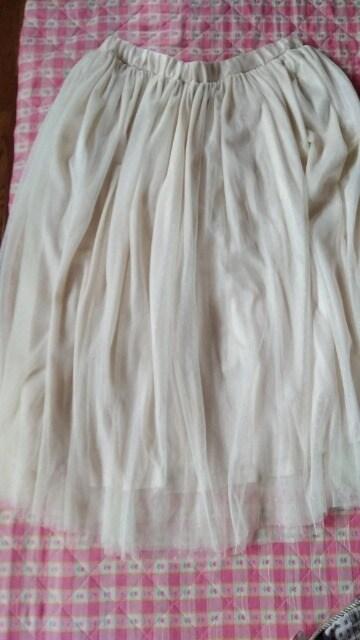 新品 大きいサイズLL〜3L  ゴム レース2枚使い スカート  < 女性ファッションの