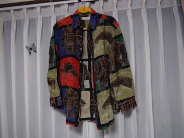 レナウンのおしゃれドレスシャツ(M)日本製!。