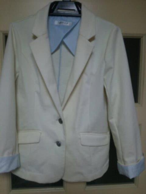 白ジャケットLサイズ  < 女性ファッションの