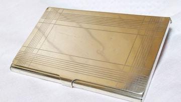 正規 ティファニー ヴィンテージ ミラー×ストライプシルバー925 カードケース メタル名刺入れ