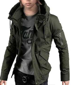 メンズ ジャケット カモフラ 迷彩 アウター XXL
