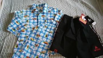 《新品&古着》男児水着と春夏物長袖パジャマ  120サイズ( ^-^)
