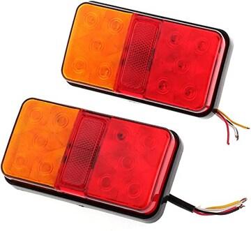 Justech LED トラック テールランプ リアブレーキライト バッ