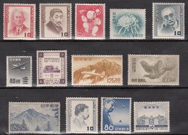 記念切手バラ各種13枚売り。