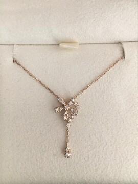 ヴァンドーム青山 ダイヤモンド ネックレス K18PG 0.10ct 2.3g