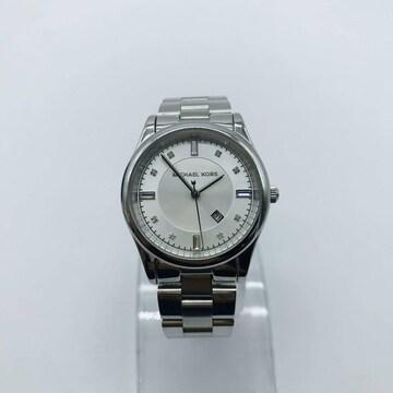 Michael Kors マイケルコース MK-6334 白文字盤 腕時計 デイト