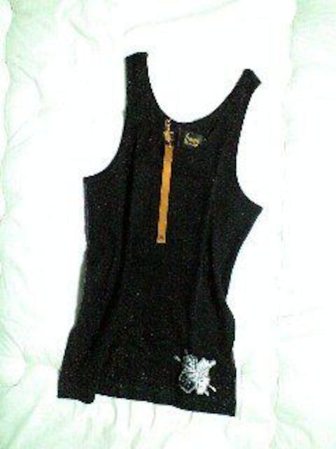 新品TROISOトロワゾ ハイビスカス刺繍タンクトップ XL  < 男性ファッションの