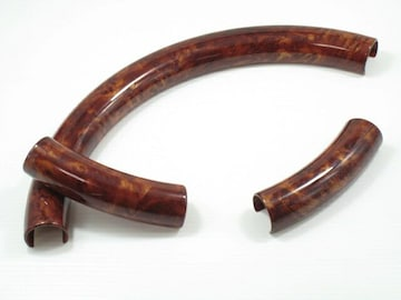 ウッド調ハンドルカバーステアリングカバー type7