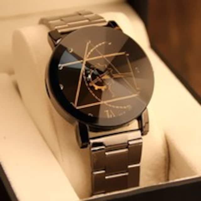 腕時計 アナログ クォーツ おしゃれ メンズ ステンレスベルト   < 男性アクセサリー/時計の