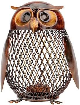 Tooarts フクロウボックス 貯金箱 動物の置物 クリエイティブ 飾