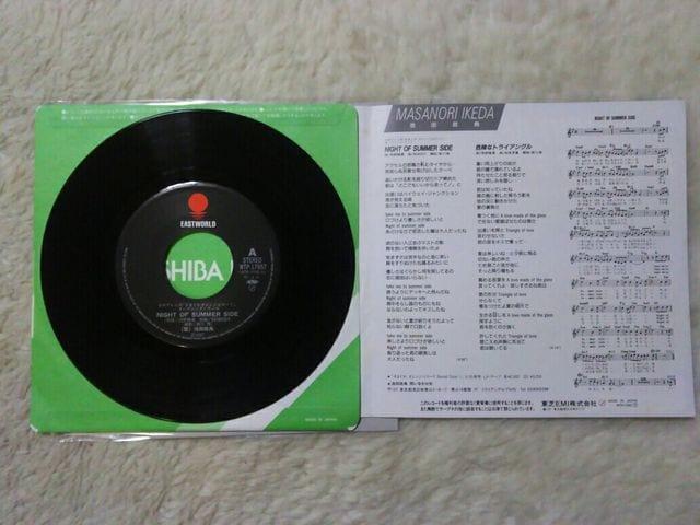シングルレコード 池田政典 night of summer side'87/5 オレンジロードOP曲 < CD/DVD/ビデオの