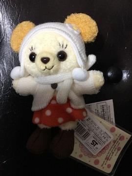 ミニー&カドリーベア☆キーチェーン☆ウィンターニット☆新品