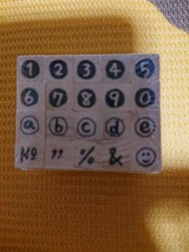 新品、番号スタンプ、ナンバー、ハンコ