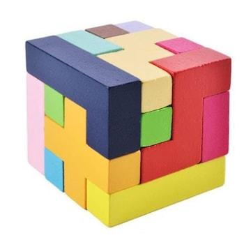 知育玩具 立体おもちゃ テトリスブロック カラフルおもちゃ