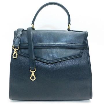 Longchampロンシャン ハンドバッグ 2WAY レザー 黒 良品 正規品