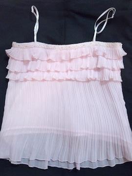 〓 綺麗なピンクに3段フリルが超ロリッ可愛い〓 チア系ロリータ キャミソール 〓