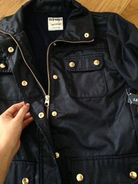 新品タグ付 OLDNAVY オーードネイビー ネイビー 紺 ブルゾン ジャケット < 女性ファッションの