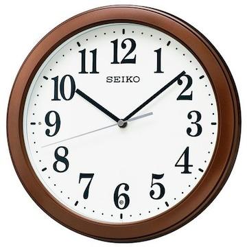 セイコー クロック 掛け時計 電波 アナログ 茶