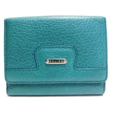 CELINEセリーヌ 二つ折り財布 レザー 緑 良品 正規品