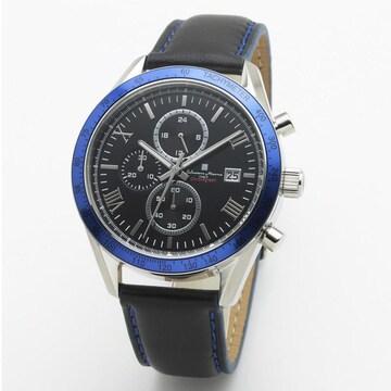 サルバトーレマーラ カジュアルクロノ腕時計 SM19108-SSBKBL