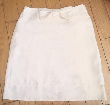 【今だけ限定値下げ】3weyバックリボンスカート  Whiteホワイト