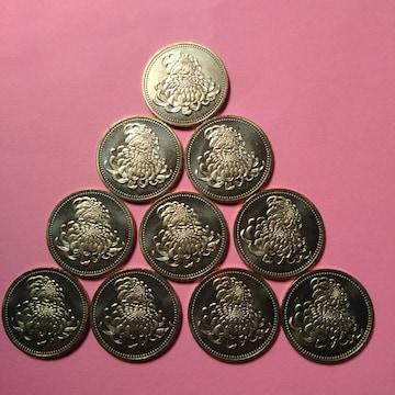 ★天皇陛下御在位20年記念!500円硬貨!10枚!ロール出し!残僅少!