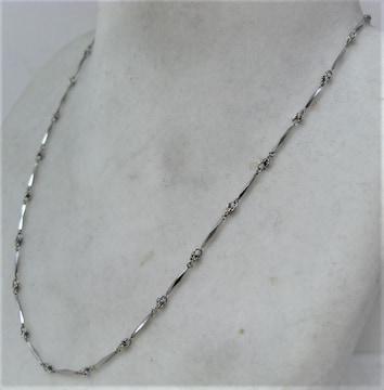 Pt850 プラチナ デザイン ネックレス  f