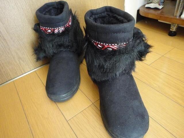 フワモコハーフブーツ 【22.5〜23】  < 女性ファッションの