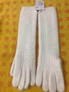 クレージュ ロングニット手袋wアンゴラ