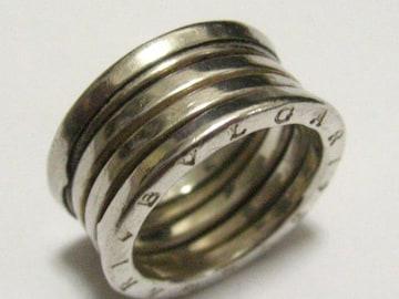 BVLGARIブルガリ世界マストのビーゼロリング銀無垢シルバー925リング13号