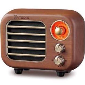 R-918 木製 ラジオ ワイドFM レトロ Bluetooth スピーカー 充電