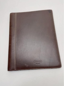 F441 美品★ コーチ COACH 高級本革 A4サイズ 手帳
