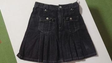 ブラック デニムスカート160�p