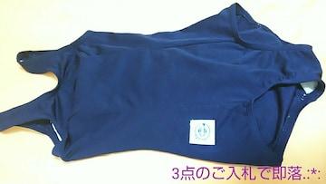 新同☆日本繊維☆微光沢ネイビーの 競泳水着 3651☆3点で即落