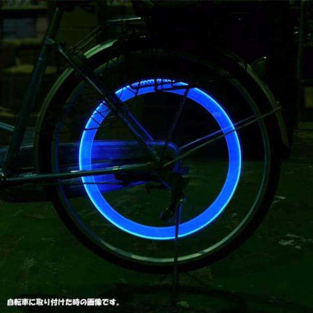 LEDホイールフラッシュ☆ブルー☆4個1セット < 自動車/バイク