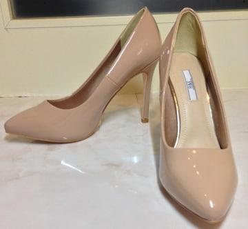 新品未使用/R&Eパテントエナメルピンハイヒールパンプス女性靴23