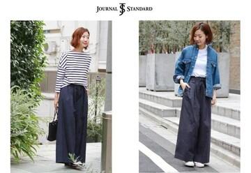 ジャーナルスタンダード*journal standard★コットンギャザーワイドパンツ(40)/used