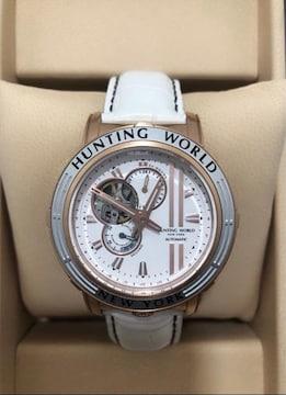 S127 美品 ハンティングワールド HW993 腕時計 自動巻