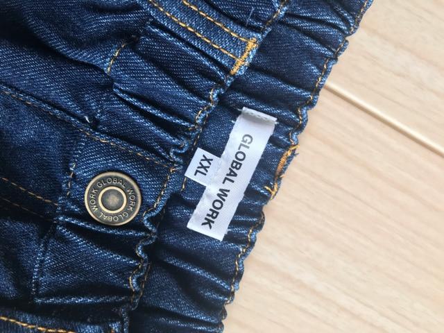美品 グローバルワーク キッズ デニムスカート 140 < ブランドの