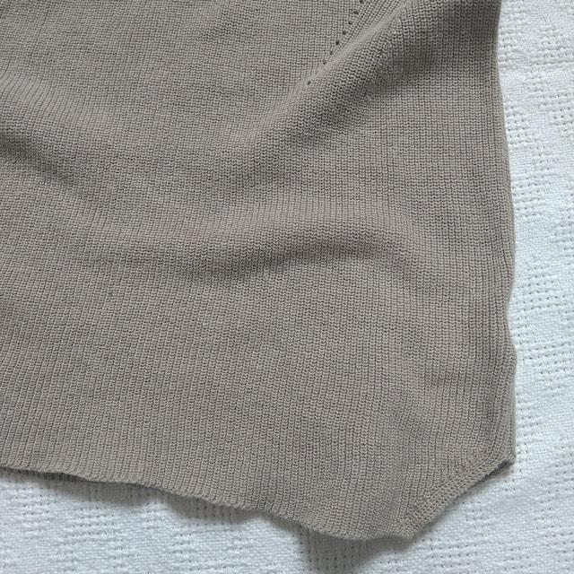 春物★studio CLIP/重ね着に使える綿麻ニットベスト