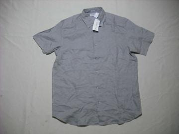 72 男 CK CALVIN KLEIN カルバンクライン 麻 半袖シャツ Mサイズ