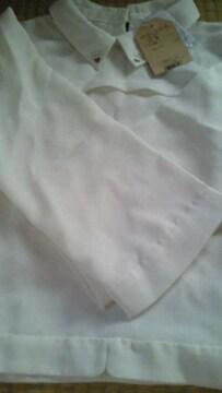 新品タグ付きワールドの商品襟が可愛い白いトップス