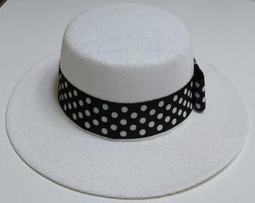 セシルマクビー★ドット柄リボン カンカン帽
