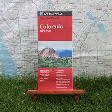 新品【輸入地図】コロラド州 State Map -Rand McNally-