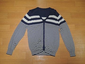 uniform experiment 薄手 ボーダー カーディガン 2 紺 SOPHNET.