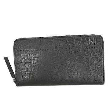 ◆新品本物◆エンポリオアルマーニ ラウンドファスナー長財布(BK)『YEME49 YSL5J』