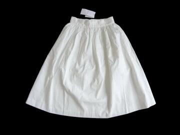 新品 定価6900円 マウジー MOUSSY 白 膝丈 フレア スカート 1