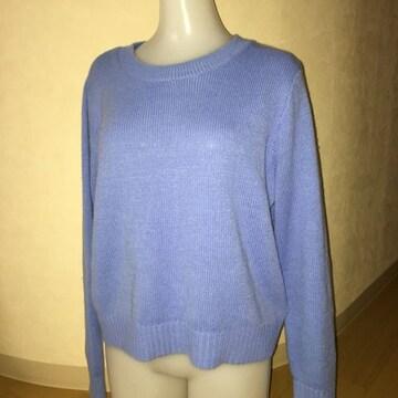 H&M 水色 ニット セーター M