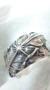 サード【SAAD】Silver 太陽神 フェザー シルバーリング 10.5号