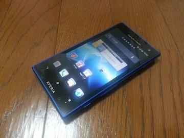 特価品!!美中古品 SO-03D Xperia acro HD アクア ブルー